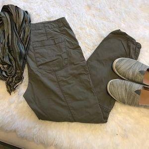 Loft cotton zipper pants